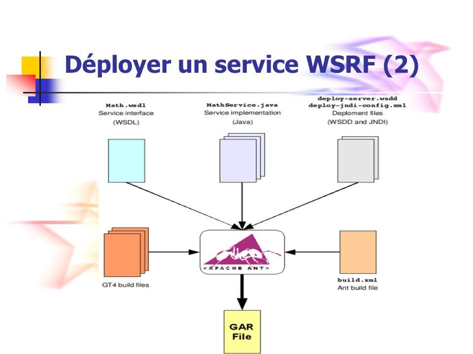 Déployer un service WSRF (2)