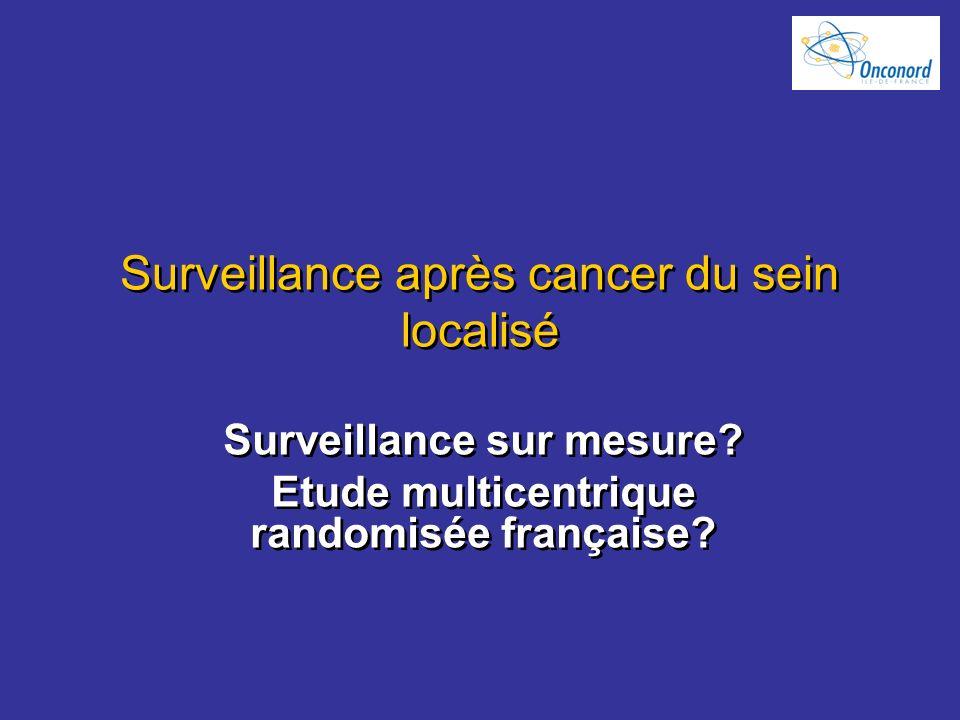 Surveillance après cancer du sein localisé Surveillance sur mesure? Etude multicentrique randomisée française? Surveillance sur mesure? Etude multicen