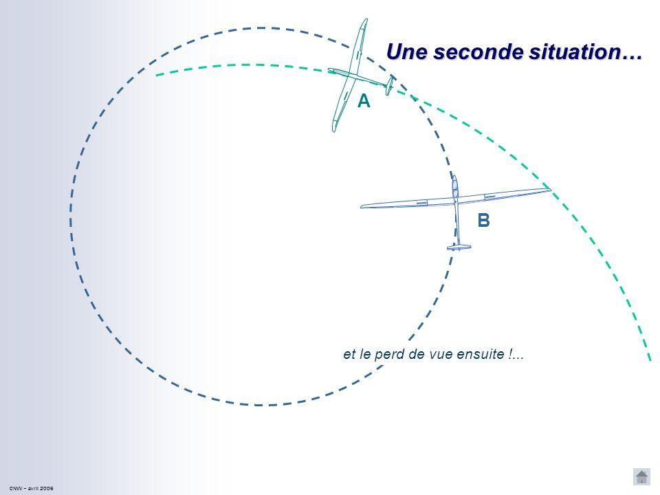 CNVV CNVV – avril 2006 Une seconde situation… A B et le perd de vue ensuite !...