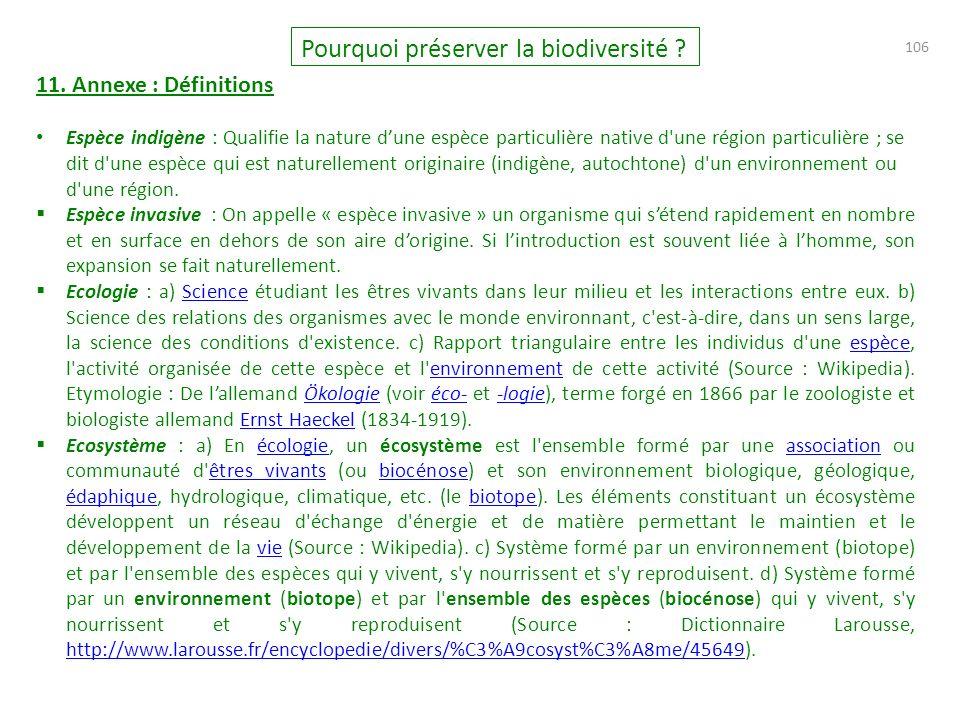 106 Pourquoi préserver la biodiversité .11.