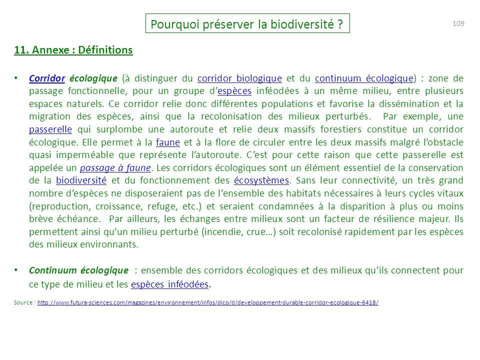 109 Pourquoi préserver la biodiversité .11.