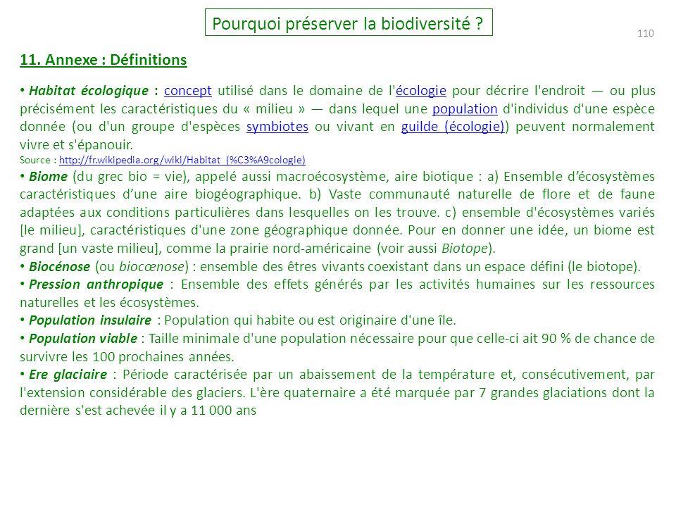 110 Pourquoi préserver la biodiversité .11.