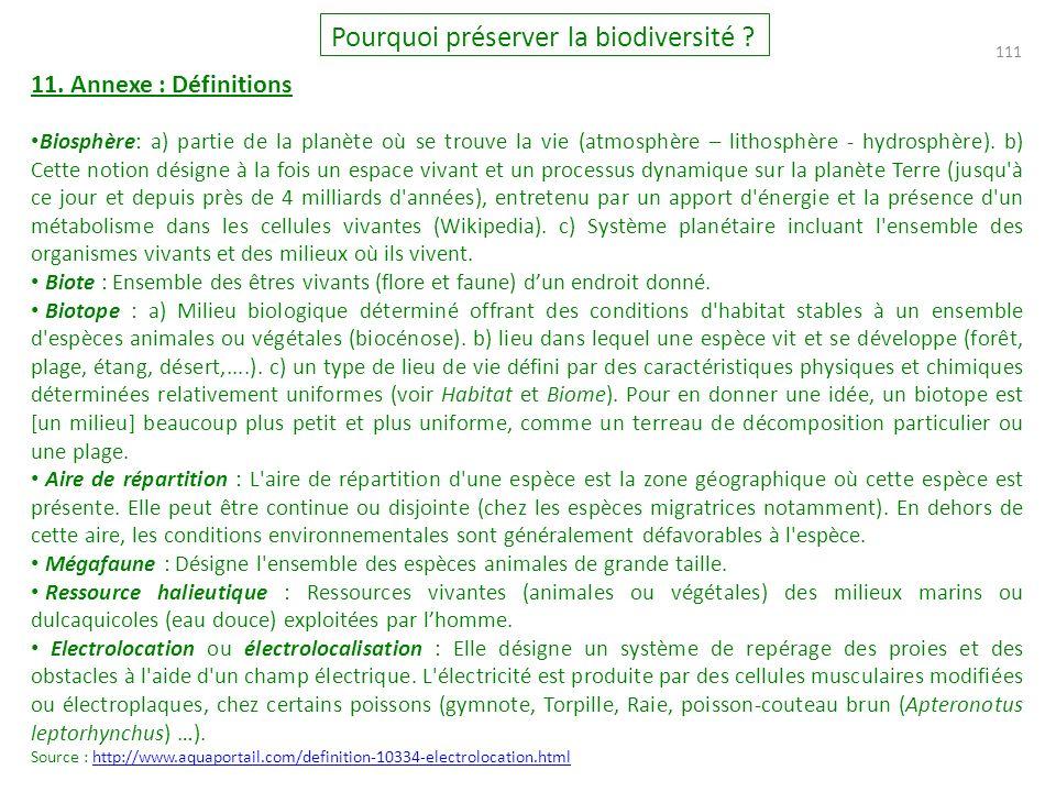 111 Pourquoi préserver la biodiversité .11.