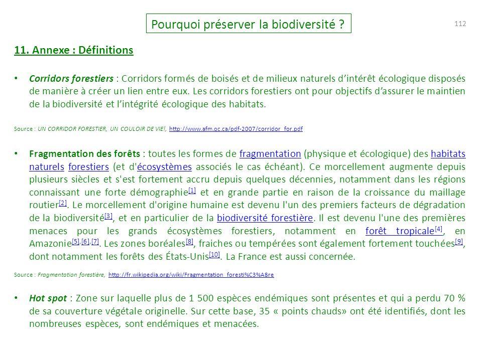 112 Pourquoi préserver la biodiversité .11.