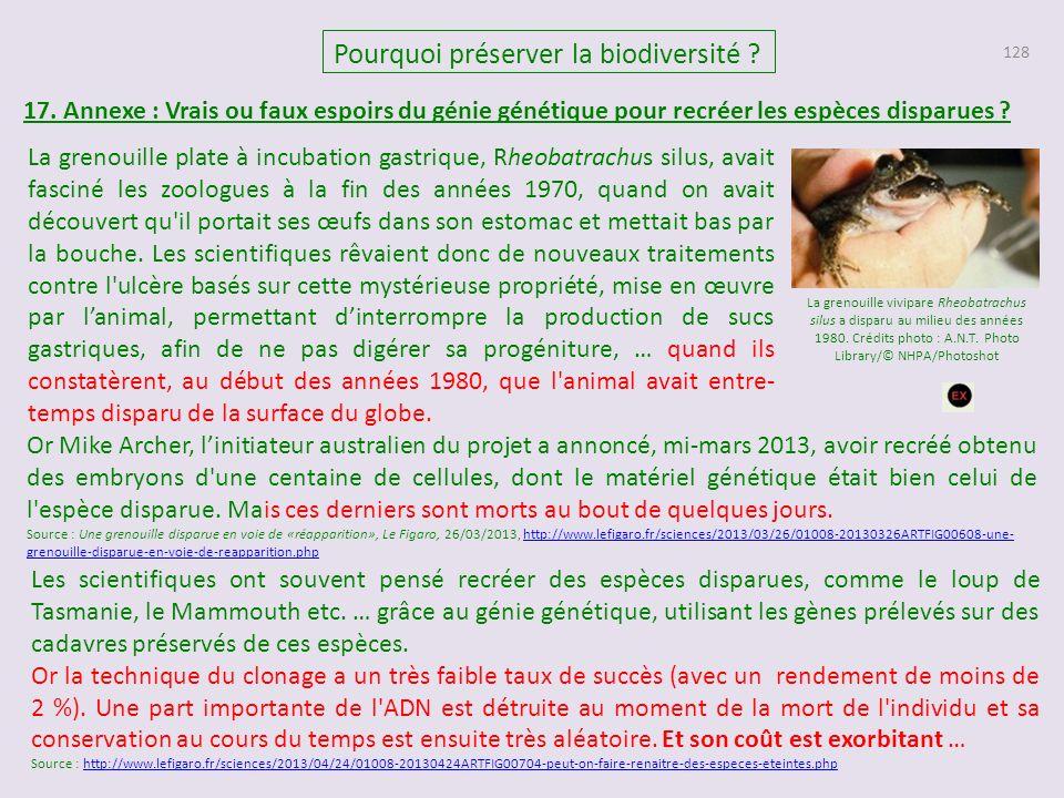 128 Pourquoi préserver la biodiversité .17.
