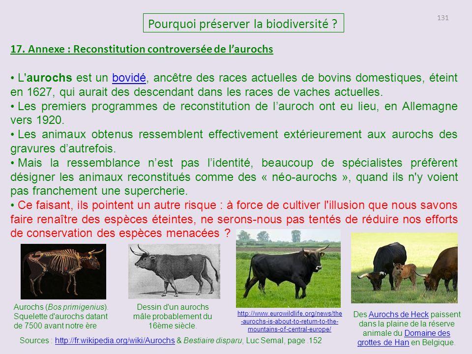 131 Pourquoi préserver la biodiversité .17.