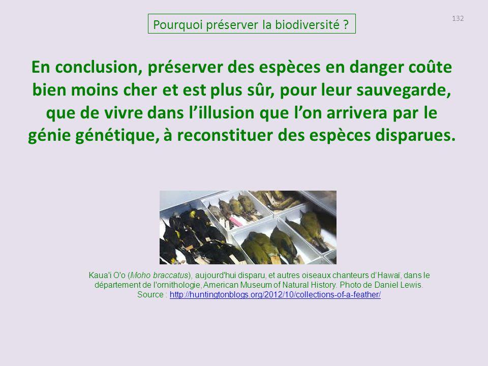 132 Pourquoi préserver la biodiversité .