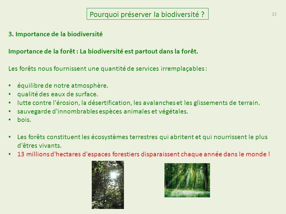 22 Pourquoi préserver la biodiversité .3.