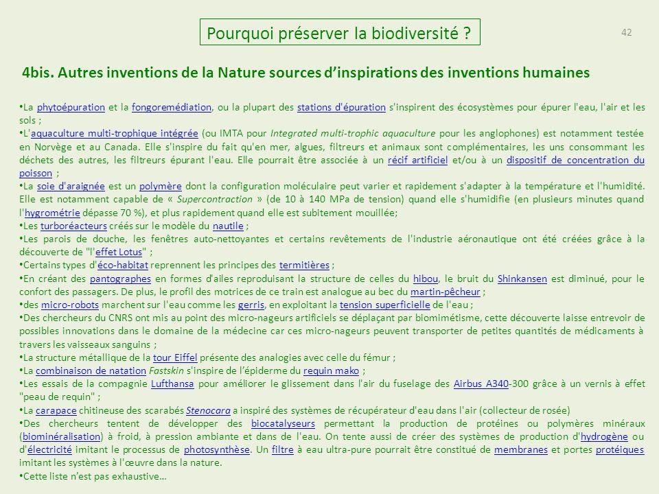 42 Pourquoi préserver la biodiversité .