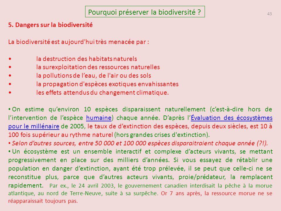 43 Pourquoi préserver la biodiversité .5.