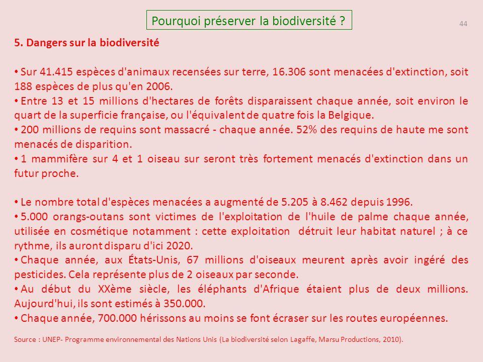 44 Pourquoi préserver la biodiversité .5.