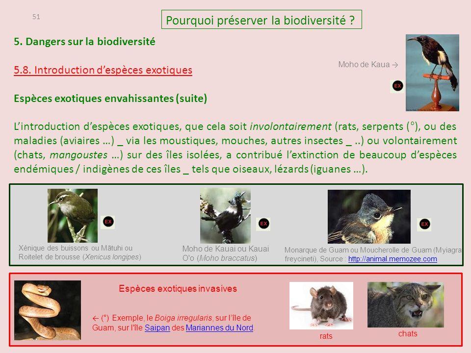 51 5.Dangers sur la biodiversité 5.8.