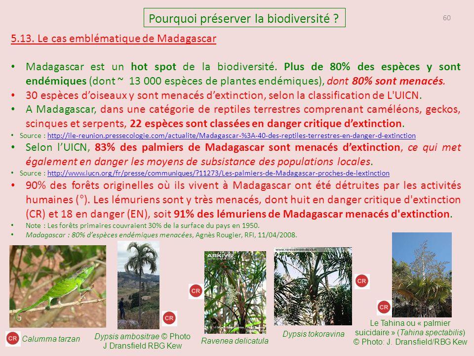 60 Pourquoi préserver la biodiversité .5.13.