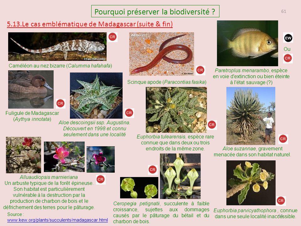 61 Pourquoi préserver la biodiversité .
