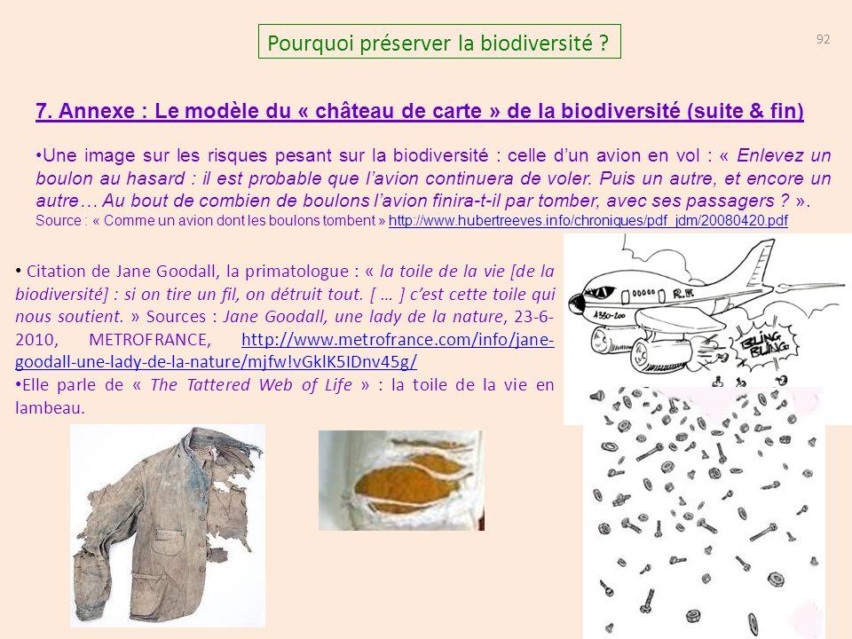 92 Pourquoi préserver la biodiversité .7.
