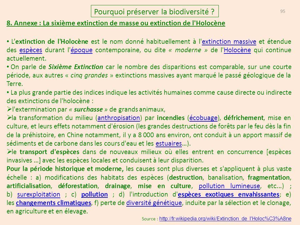 95 Pourquoi préserver la biodiversité .8.