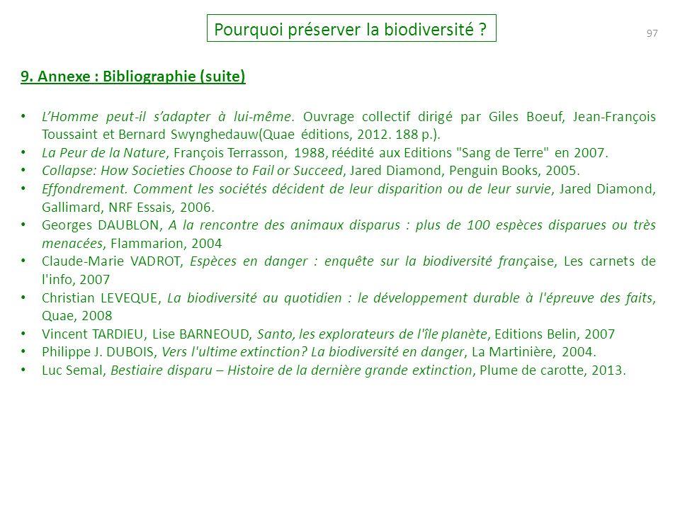 97 Pourquoi préserver la biodiversité .9.