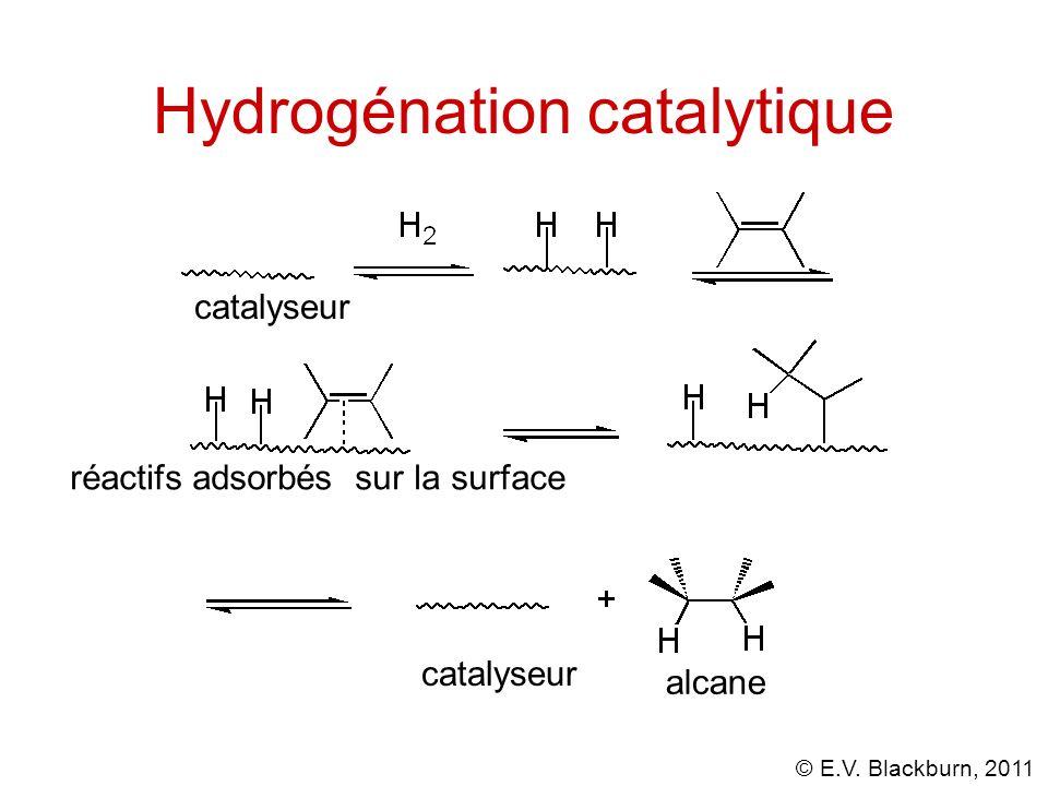 © E.V.Blackburn, 2011 Hydrogénation catalytique Lhydrogénation est stéréospécifique.