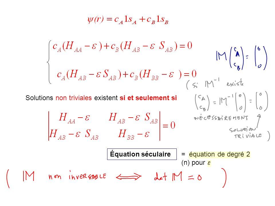 Équation séculaire = équation de degré 2 (n) pour