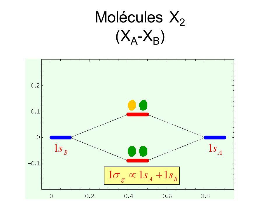 Molécules X 2 (X A -X B )