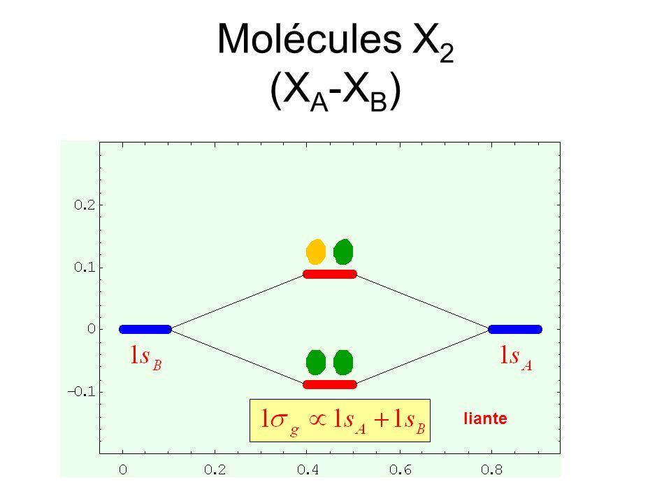 liante Molécules X 2 (X A -X B )