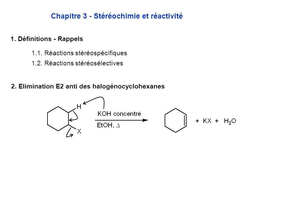 Exemple du 1-chloro-2-méthylcyclohexane, cis et trans * Données expérimentales Régioisomère majoritaire