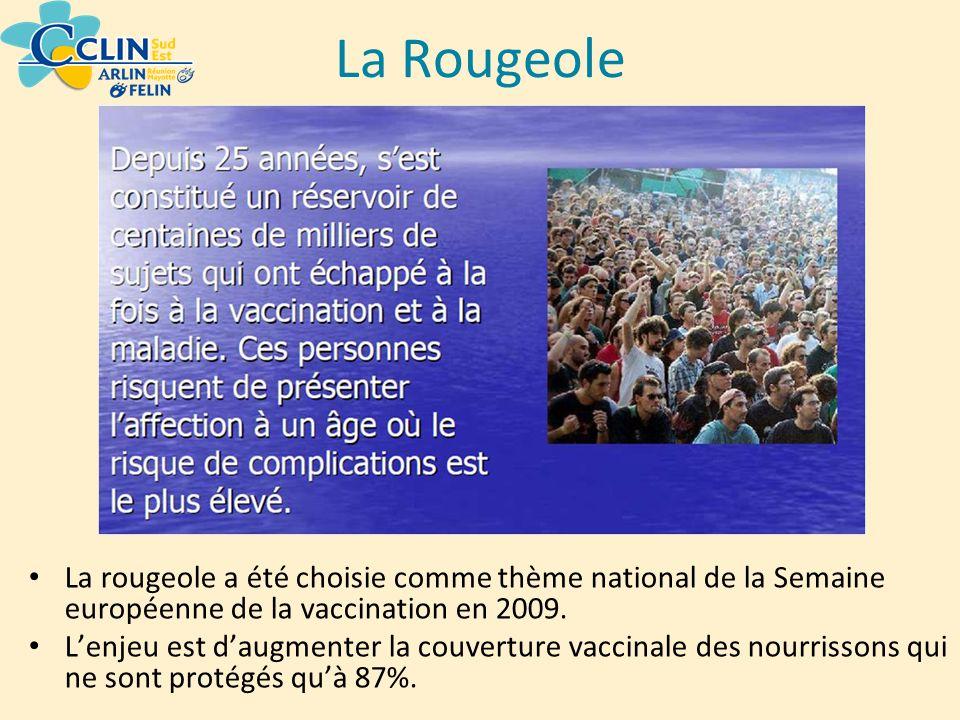 La rougeole a été choisie comme thème national de la Semaine européenne de la vaccination en 2009. Lenjeu est daugmenter la couverture vaccinale des n
