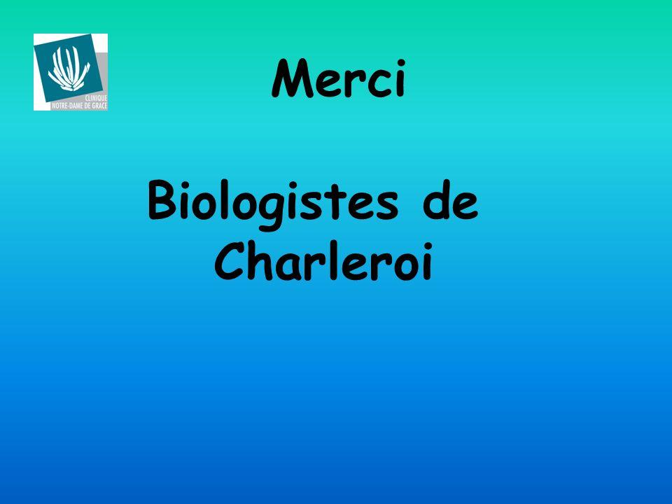 Merci Biologistes de Charleroi