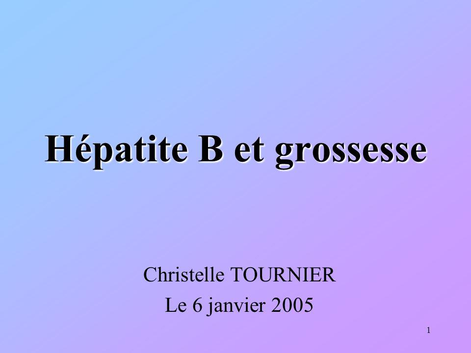 22 CAT chez la femme enceinte En cas dhépatite chronique : –La grossesse naggrave pas lhépatite –Le VHB nest pas une contre-indication à une grossesse.