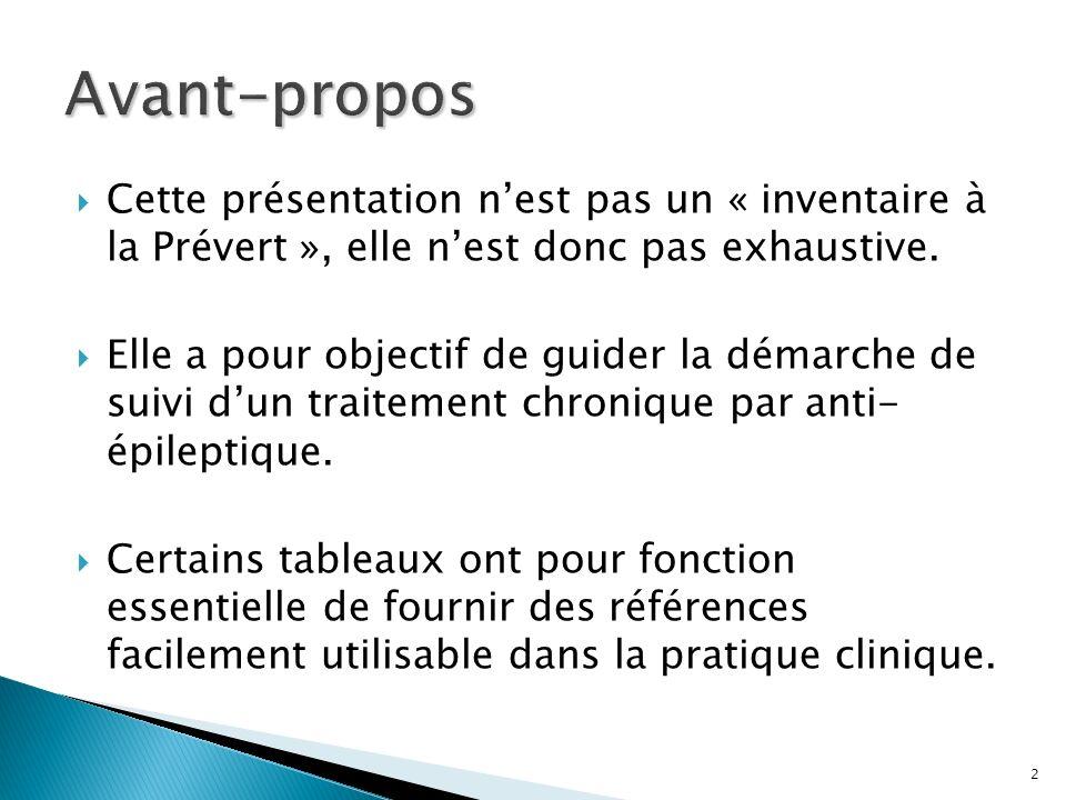 2 Cette présentation nest pas un « inventaire à la Prévert », elle nest donc pas exhaustive. Elle a pour objectif de guider la démarche de suivi dun t
