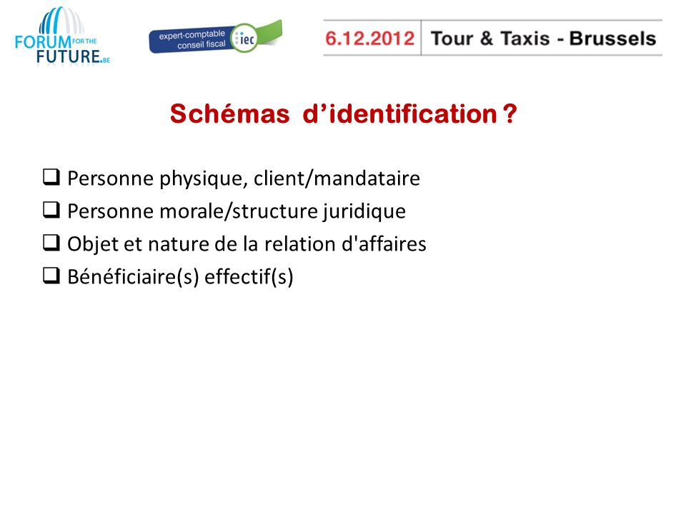 Schémas didentification .