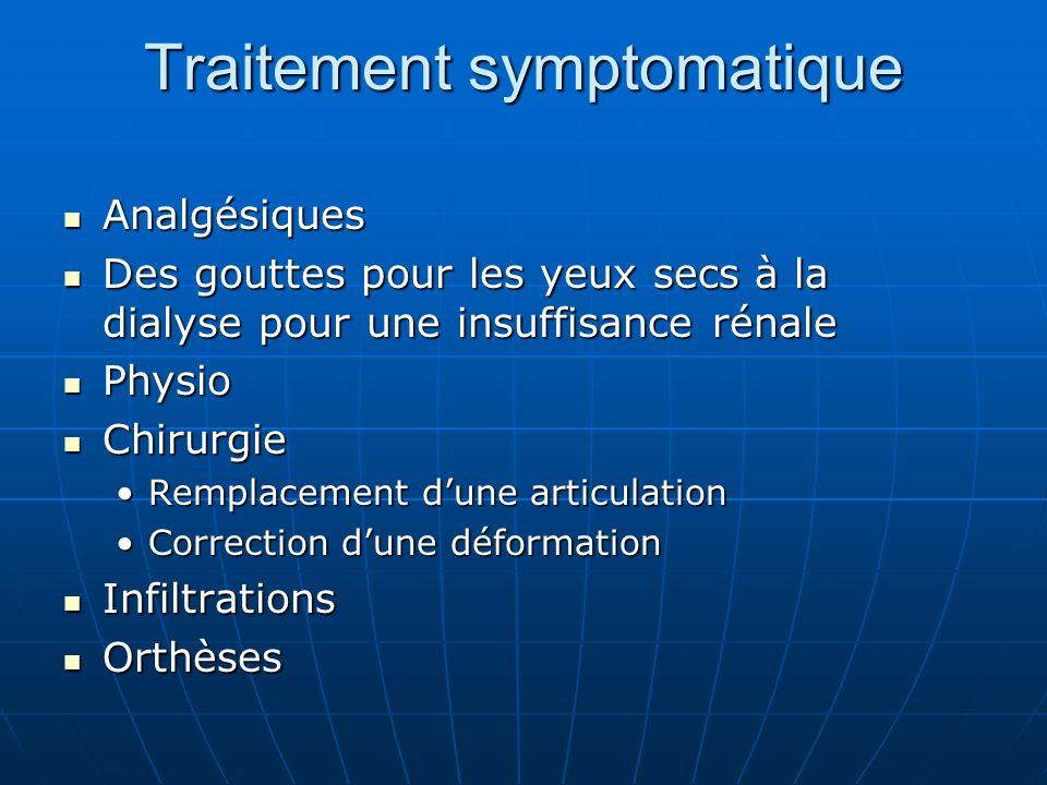 Traitement symptomatique Analgésiques Analgésiques Des gouttes pour les yeux secs à la dialyse pour une insuffisance rénale Des gouttes pour les yeux