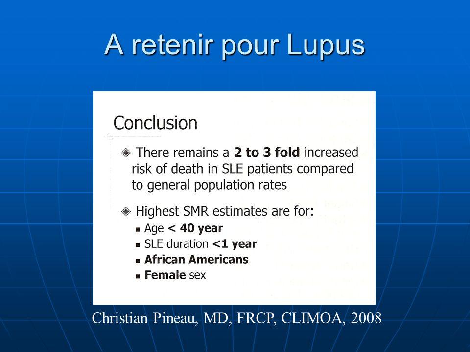 A retenir pour Lupus Christian Pineau, MD, FRCP, CLIMOA, 2008