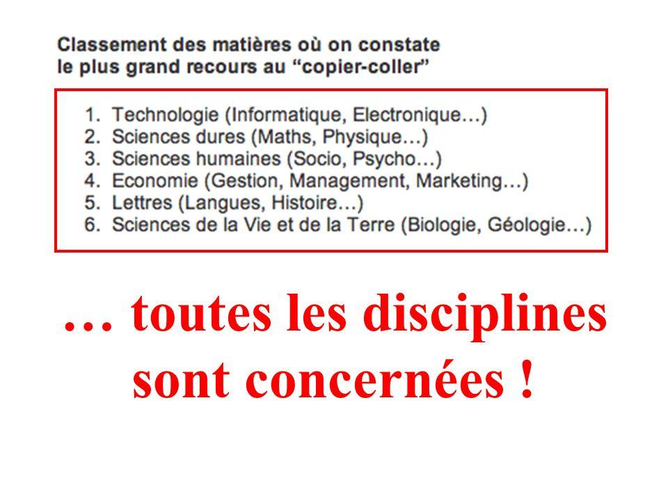 http://www.compilatio.net/files/sixdegres-sphinx_enquete-plagiat_fev06.pdf http://www.compilatio.net/enquete.php Rapport détaillé de 33 pages :