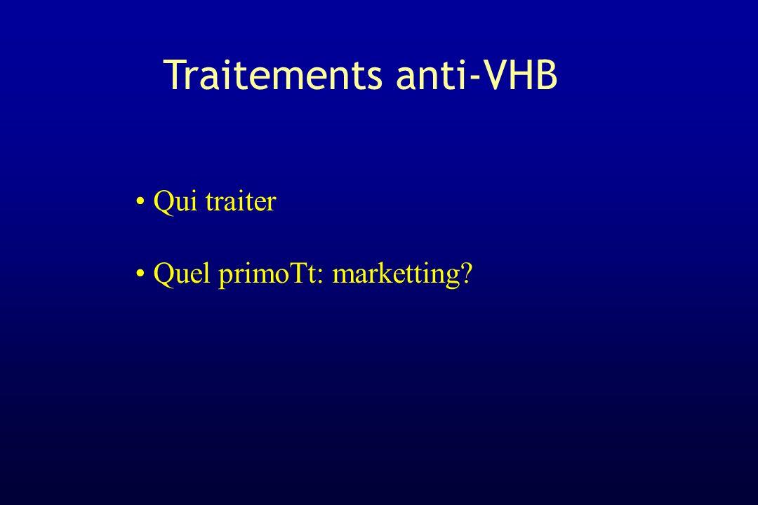 Traitements anti-VHB Qui traiter Quel primoTt: marketting?