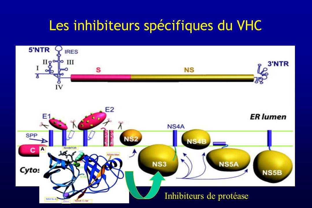 Les inhibiteurs spécifiques du VHC Inhibiteurs de protéase