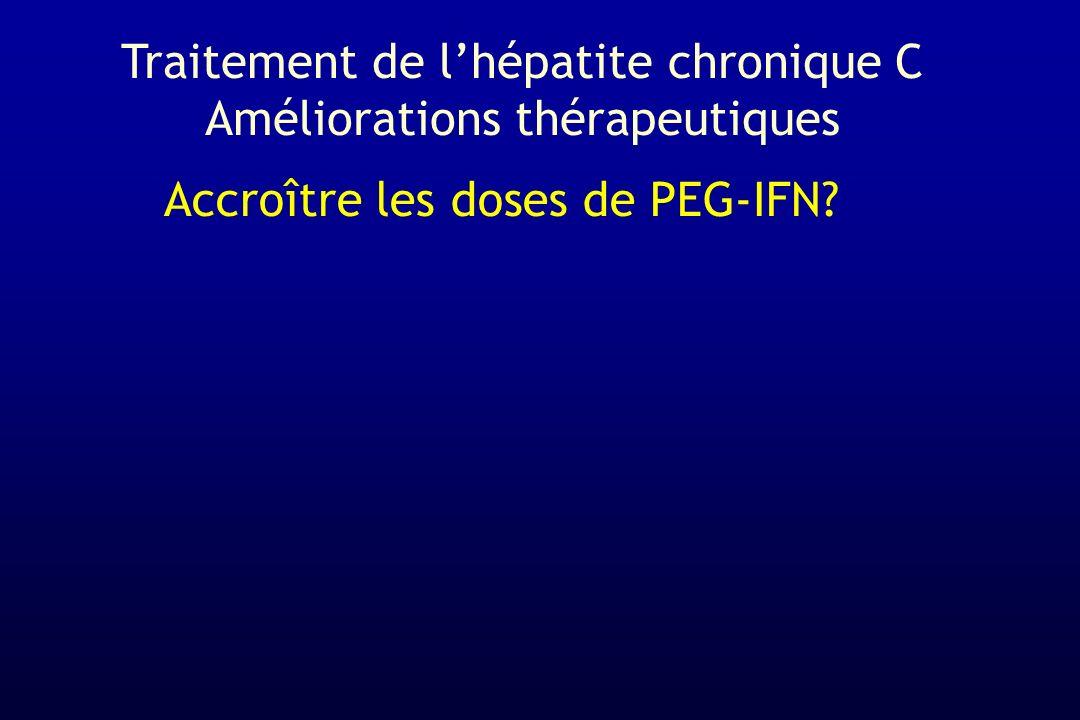 Accroître les doses de PEG-IFN? Traitement de lhépatite chronique C Améliorations thérapeutiques