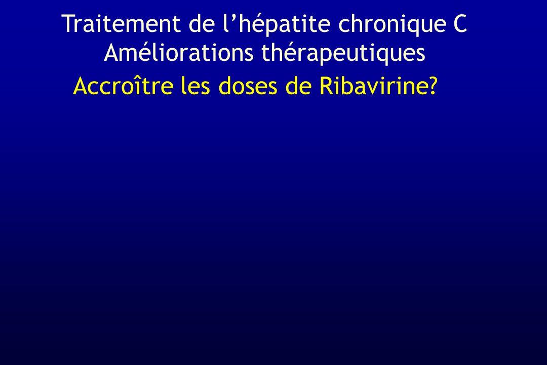 Accroître les doses de Ribavirine? Traitement de lhépatite chronique C Améliorations thérapeutiques