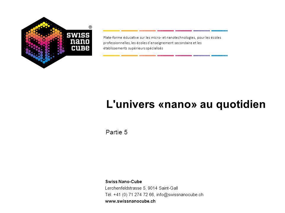 © 2011 - Swiss Nano-Cube 1 5. L univers «nano» au quotidien