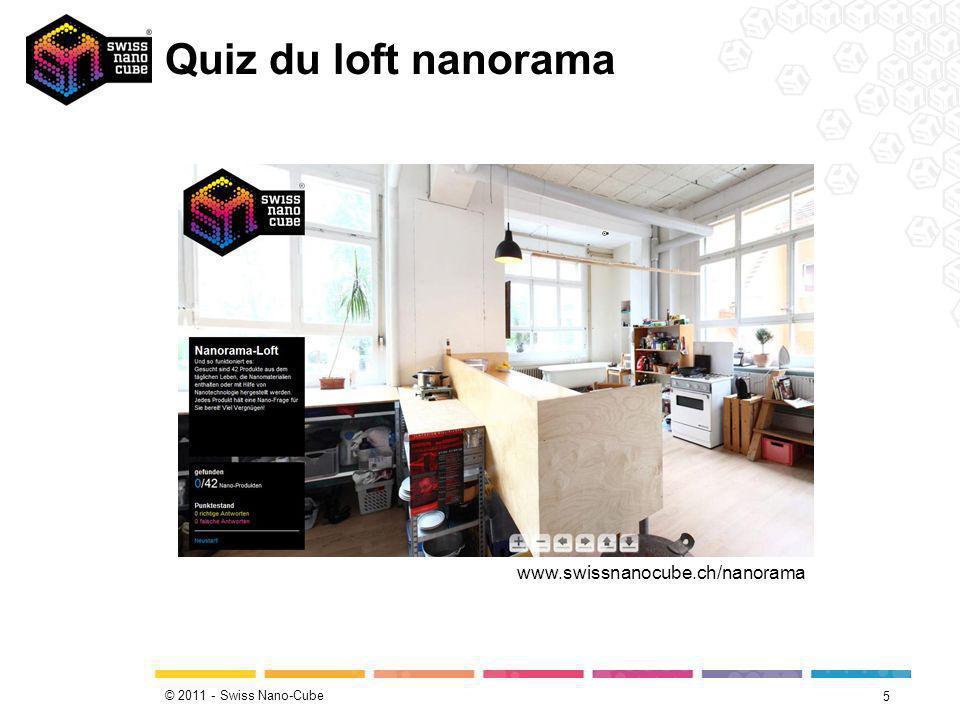 © 2011 - Swiss Nano-Cube Quiz du loft nanorama 5 www.swissnanocube.ch/nanorama