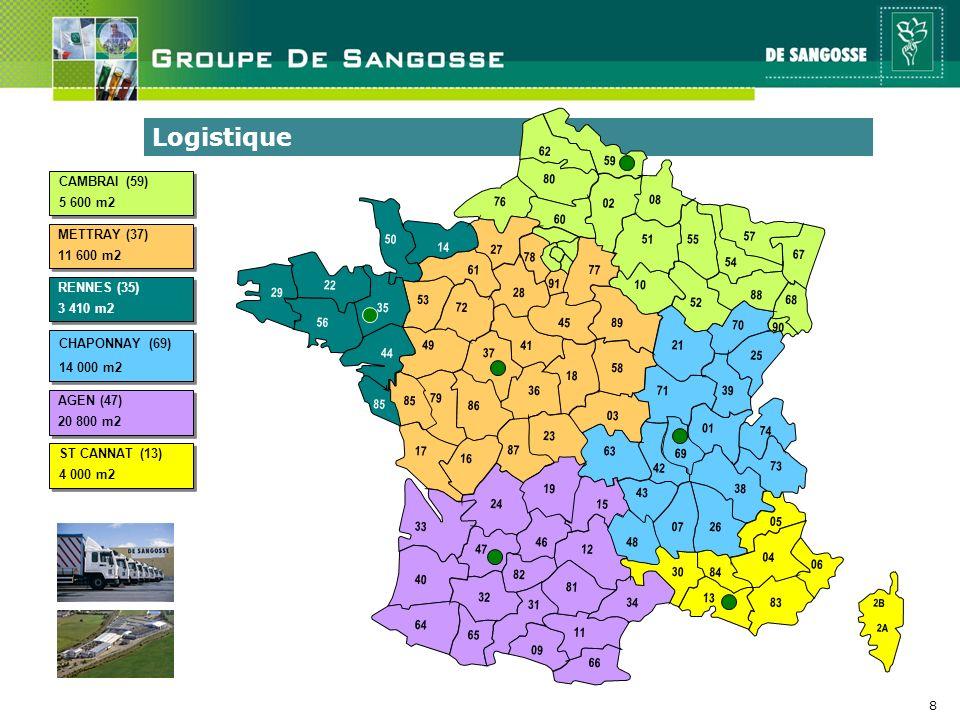8 Logistique AGEN (47) 20 800 m2 AGEN (47) 20 800 m2 RENNES (35) 3 410 m2 RENNES (35) 3 410 m2 METTRAY (37) 11 600 m2 METTRAY (37) 11 600 m2 CHAPONNAY