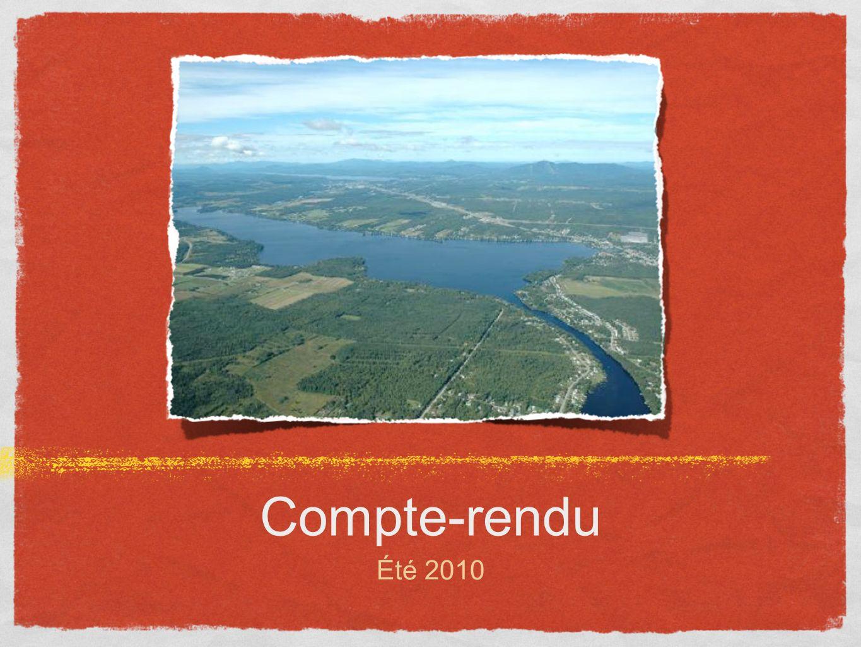 Compte-rendu Été 2010