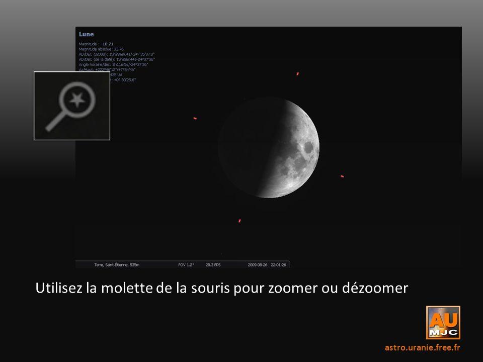 Utilisez la molette de la souris pour zoomer ou dézoomer astro.uranie.free.fr