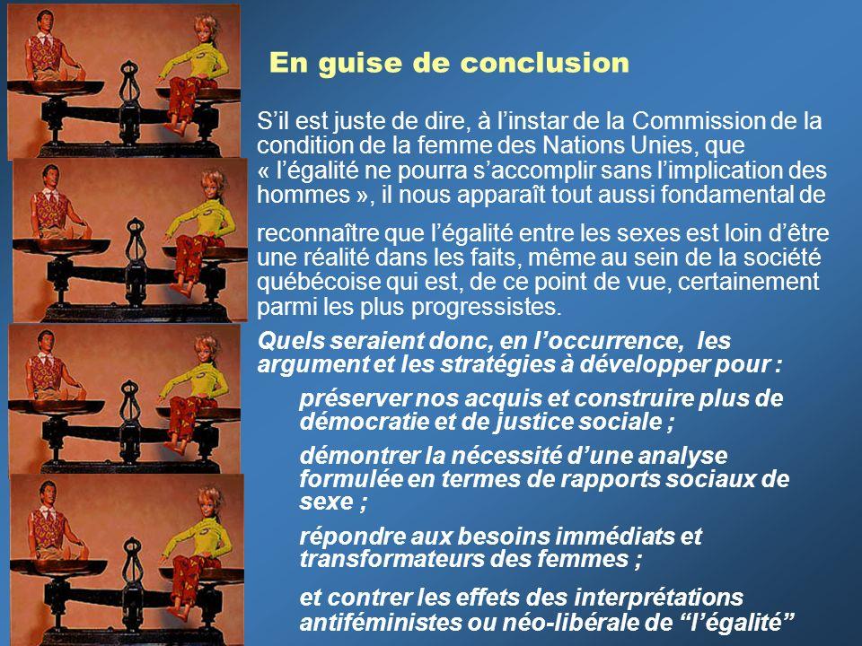 En guise de conclusion Sil est juste de dire, à linstar de la Commission de la condition de la femme des Nations Unies, que « légalité ne pourra sacco