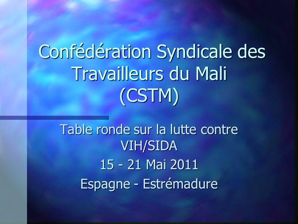 Confédération Syndicale des Travailleurs du Mali (CSTM) Confédération Syndicale des Travailleurs du Mali (CSTM) Table ronde sur la lutte contre VIH/SI