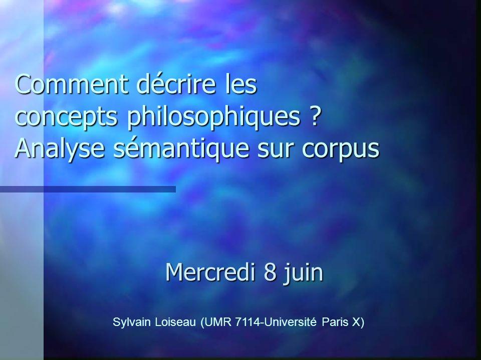 Comment décrire les concepts philosophiques .