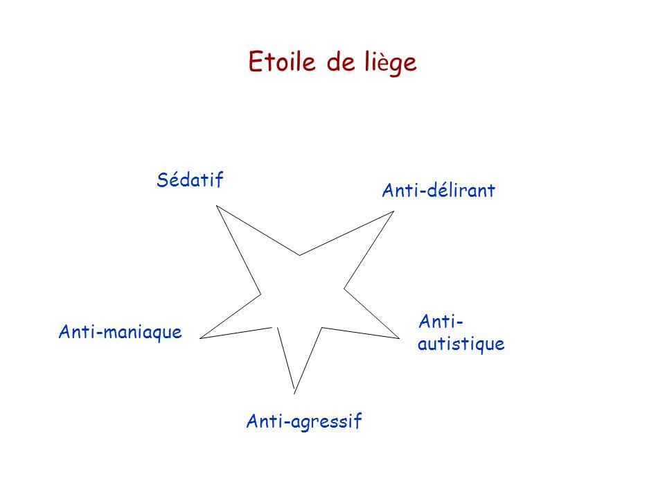 Etoile de li è ge Anti-délirant Anti- autistique Anti-agressif Anti-maniaque Sédatif