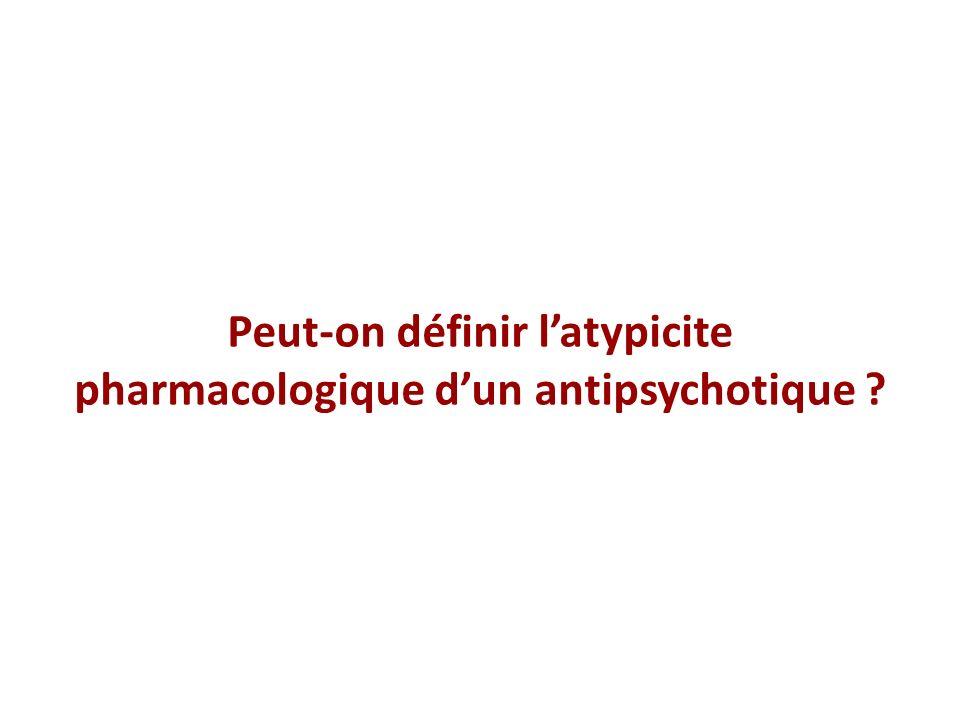 Concept dantipsychotique atypique Types dinteractions avec les récepteurs – Activité antagoniste concomitante sur dautres récepteurs: 5-HT 2 A – Concept de dissociation rapide – Capacité dinteragir avec le glutamate