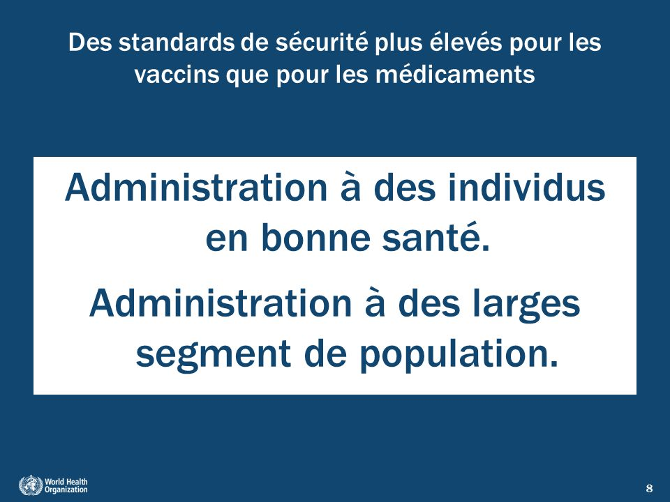 9 Défis pour la sécurité de la vaccination Évolution des programmes (nouveaux vaccins et nouvelles technologies).