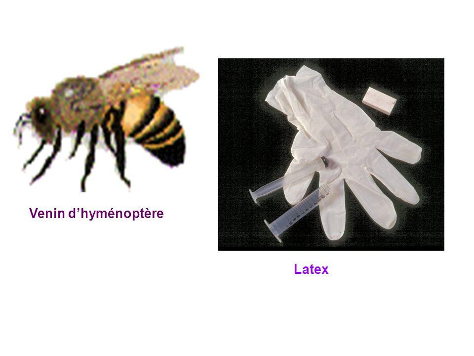 Venin dhyménoptère Latex